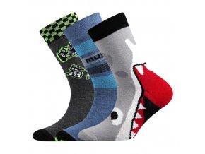 Dětské ponožky 3 kusy v balení Boma 057-21-43 - V mix vzorů B Chlapec