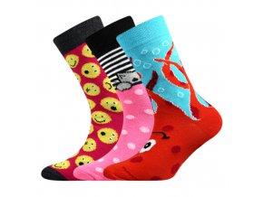 Dětské ponožky 3 kusy v balení Boma 057-21-43 - V mix vzorů C dívka