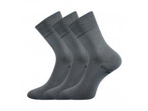 Zdravotní ponožky 3 kusy v balení Lonka Bioban tmavě šedá