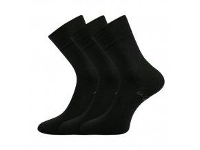 Zdravotní ponožky 3 kusy v balení Lonka Bioban černá