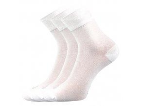 Bambusové ponožky 3 kusy v balení Lonka Demi bílá