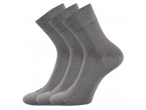 Bambusové ponožky 3 kusy v balení Lonka Demi světle šedá