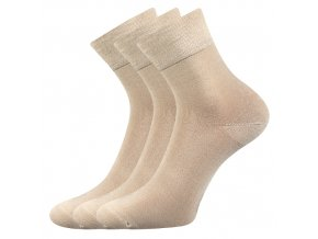 Bambusové ponožky 3 kusy v balení Lonka Demi světle béžová