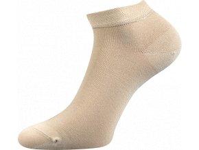 Bambusové ponožky 3 kusy v balení Lonka Desi béžová