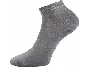 Bambusové ponožky 3 kusy v balení Lonka Desi světle šedá