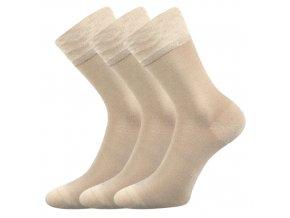 Bambusové ponožky 3 kusy v balení Lonka Deli béžová