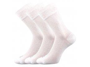 Bambusové ponožky 3 kusy v balení Lonka Deli bílá