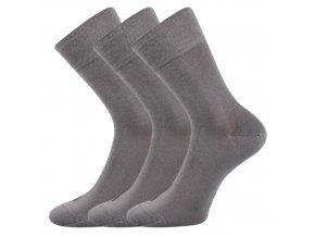 Bambusové ponožky 3 kusy v balení Lonka Deli světle šedá