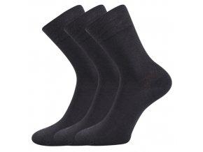 Bambusové ponožky 3 kusy v balení Lonka Deli tamvě šedá
