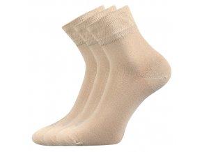 Zdravotní ponožky 3 kusy v balení Lonka Emi béžová