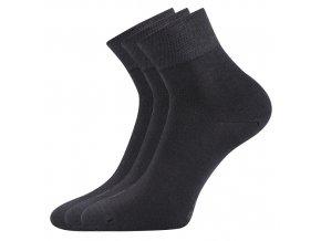 Zdravotní ponožky 3 kusy v balení Lonka Emi tmavě šedá