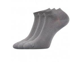 Zdravotní ponožky 3 kusy v balení Lonka Esi světle šedá