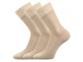 Společenské ponožky 3 kusy v balení Lonka Eli béžová