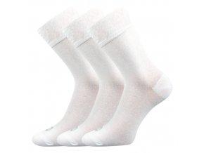 Společenské ponožky 3 kusy v balení Lonka Eli bílá