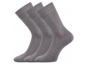 Společenské ponožky 3 kusy v balení Lonka Eli světle šedá