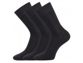 Společenské ponožky 3 kusy v balení Lonka Eli tmavě šedá