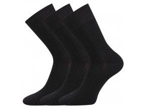 Společenské ponožky 3 kusy v balení Lonka Eli černá