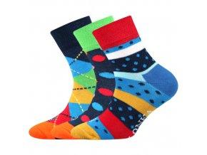 Dětské ponožky 3 kusy v balení Lonka Woodik mix A
