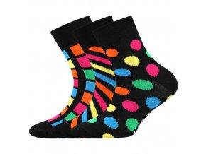 Dětské ponožky 3 kusy v balení Lonka Woodik mix H