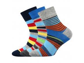 Dětské ponožky 3 kusy v balení Lonka Woodik mix I