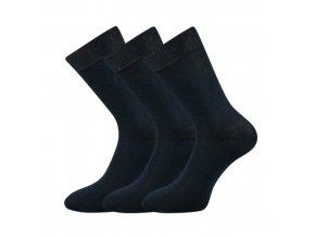 Společenské ponožky 3 kusy v balení Lonka Blažej 100% bavlněné tmavě modré