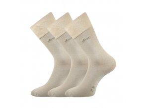 Společenské ponožky 3 kusy v balení Lonka Desilve béžová