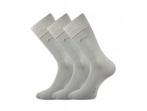 Společenské ponožky 3 kusy v balení Lonka Desilve světle šedá