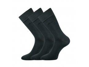 Společenské ponožky 3 kusy v balení Lonka Desilve tmavě šedá