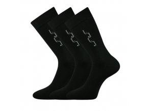 Společenské ponožky 3 kusy v balení Lonka Drejul černá