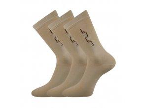 Společenské ponožky 3 kusy v balení Lonka Drejul béžová