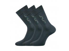 Společenské ponožky 3 kusy v balení Lonka Drejul tmavě šedá