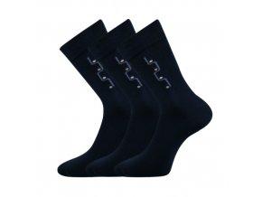 Společenské ponožky 3 kusy v balení Lonka Drejul tmavě modrá
