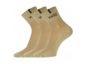 Ponožky VoXX 3 kusy v balení Fredy béžová