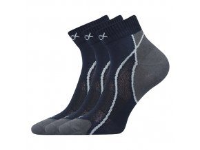 Ponožky VoXX 3 kusy v balení Grand tmavě modrá