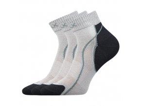 Ponožky VoXX 3 kusy v balení Grand světle šedá