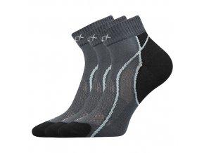 Ponožky VoXX 3 kusy v balení Grand tmavě šedá