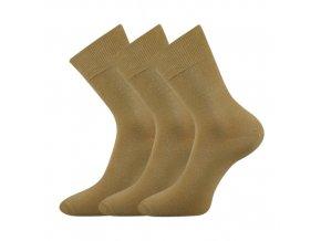 Společenské ponožky 3 kusy v balení Lonka Habin 100% bavlněné béžová