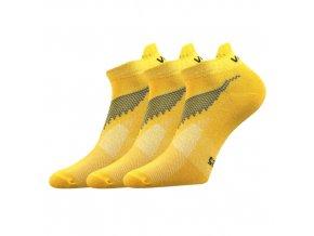 Ponožky VoXX 3 kusy v balení Iris žlutá