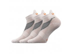 Ponožky VoXX 3 kusy v balení Iris světle šedá