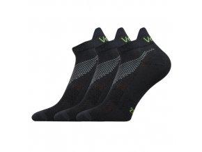 Ponožky VoXX 3 kusy v balení Iris tmavě šedá