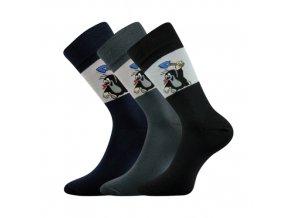 Společenské ponožky 3 kusy v balení Lonka Krtek 111 Mix A