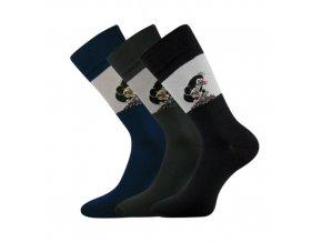 Společenské ponožky 3 kusy v balení Lonka Krtek 111 Mix B