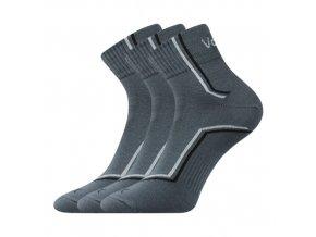 Ponožky VoXX 3 kusy v balení Kroton tmavě šedá