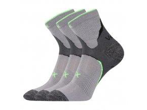 Ponožky VoXX 3 kusy v balení Maxter světle šedá