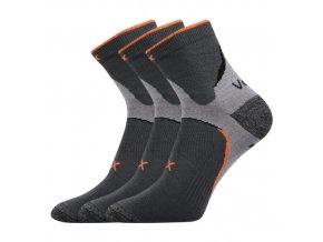 Ponožky VoXX 3 kusy v balení Maxter tmavě šedá