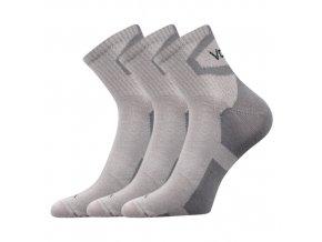 Ponožky VoXX 3 kusy v balení Oskar světle šedá