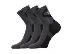 Ponožky VoXX 3 kusy v balení Oskar tmavě šedá