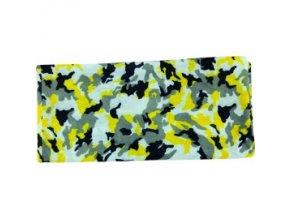 Multifunkční šátek Novia 13 černo žluto bílý abstraktní vzor