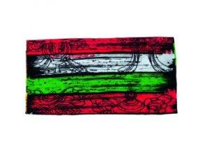 Multifunkční šátek Novia 15 pestrobarevný abstraktní vzor