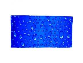 Multifunkční šátek Novia 19 modrý kapky abstraktní vzor